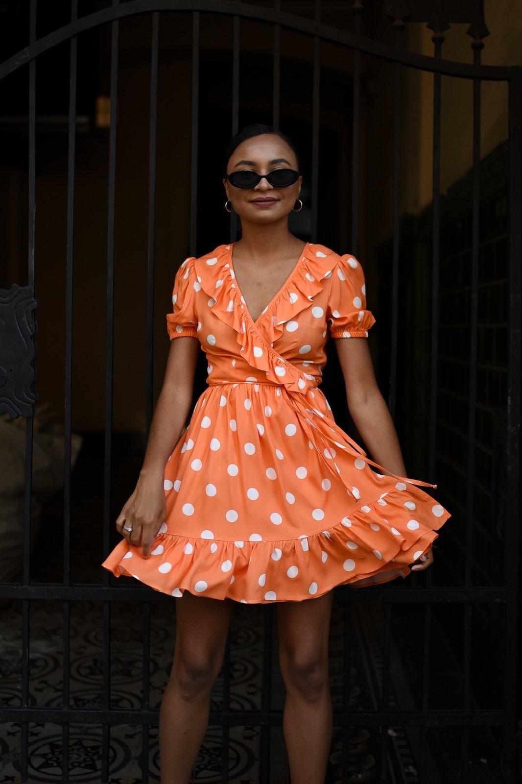 CHEAP Yasmine White Dots Dress 28617023859 – Women's Dresses & Skirts