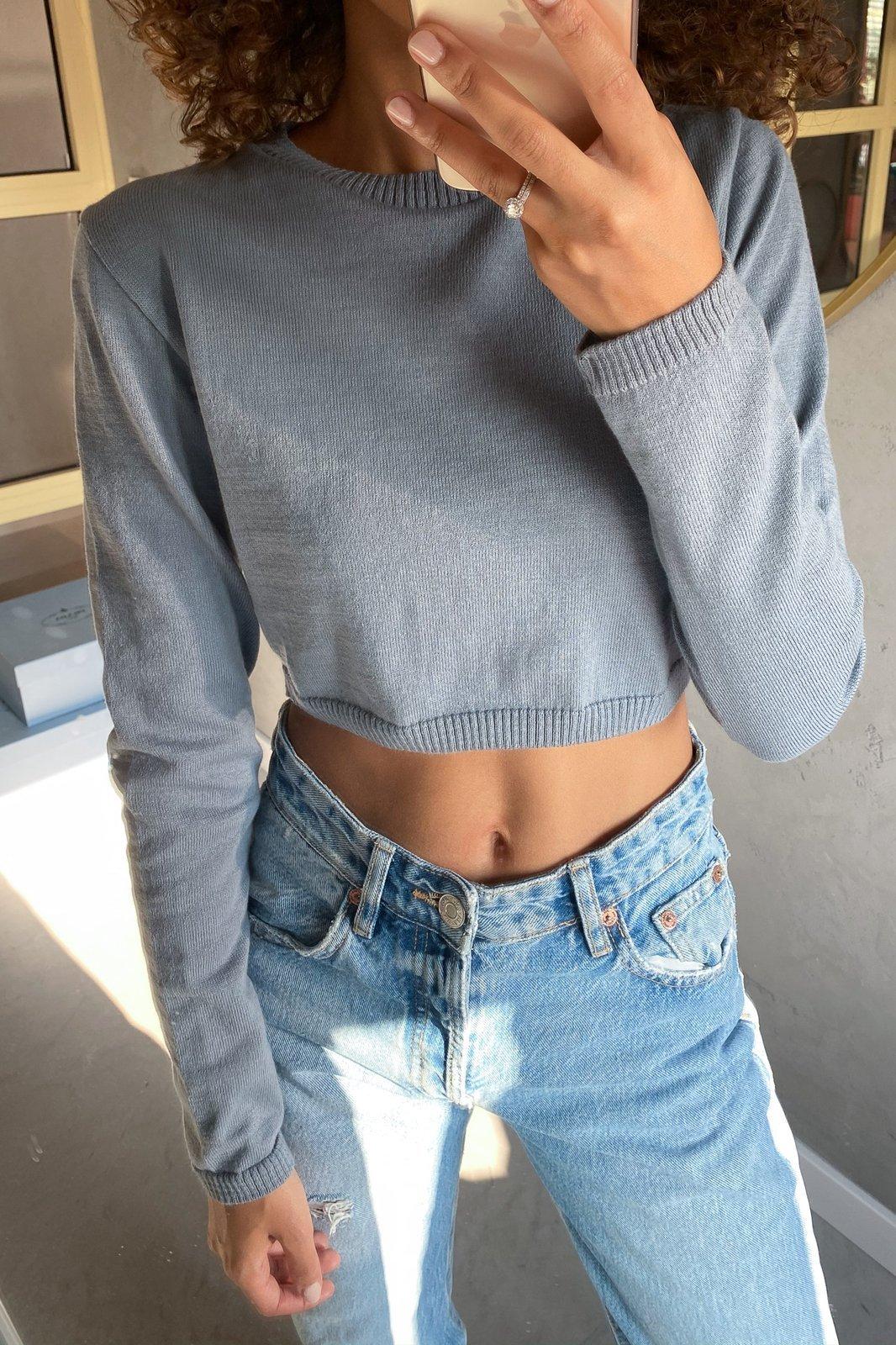 CHEAP Kiara Gray Sweater 28617024173 – Women's Tops