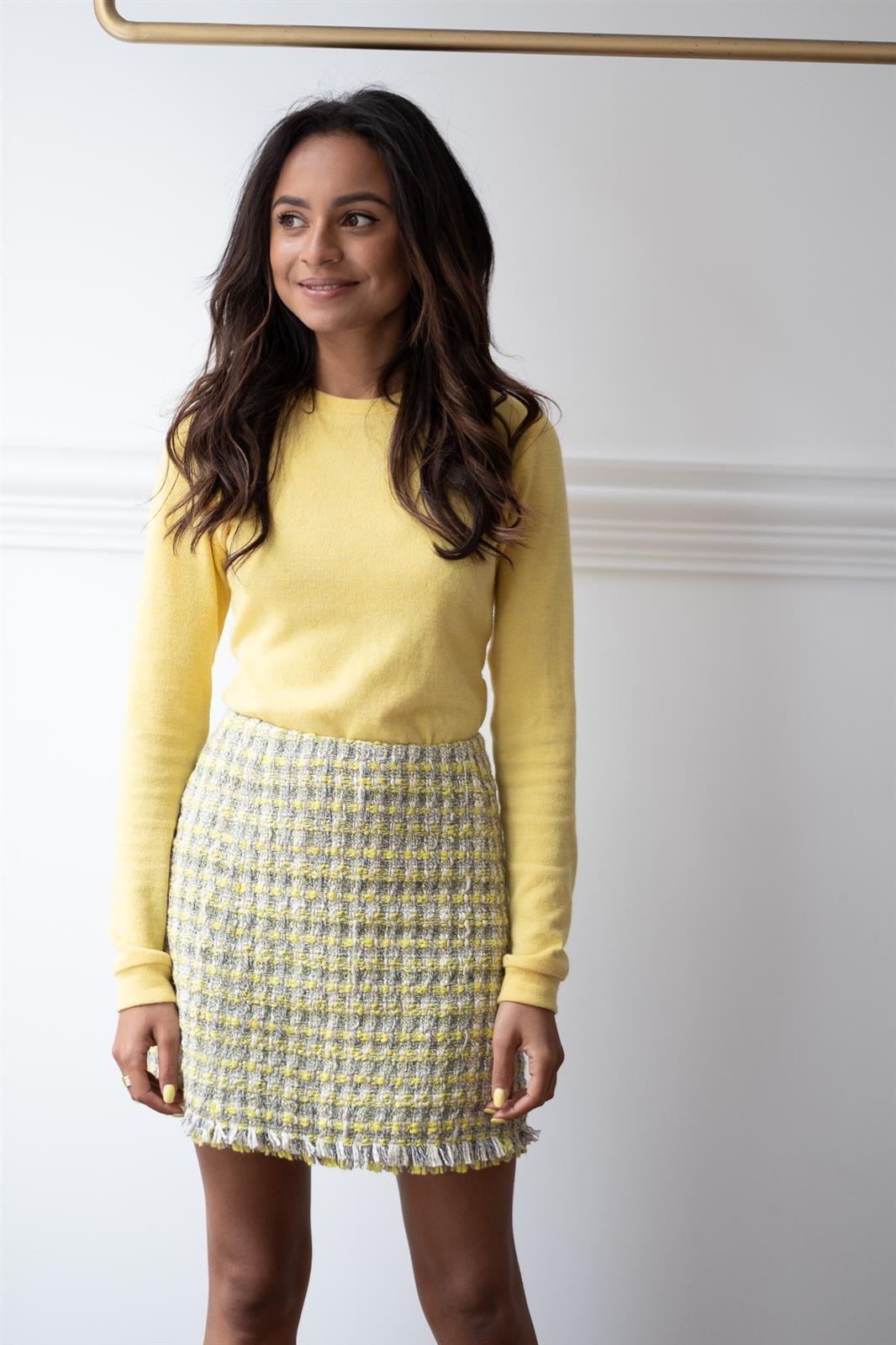 CHEAP Gabrielle Yellow Skirt 28617023819 – Women's Dresses & Skirts