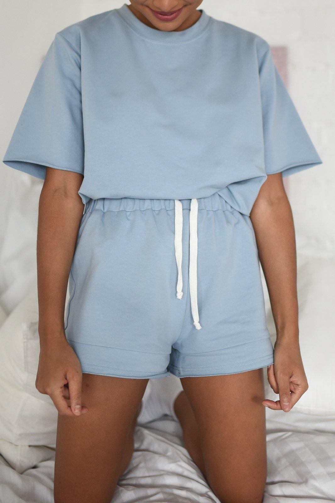 CHEAP Bahari Dusty Blue Shorts 28617024033 – Women's Trousers