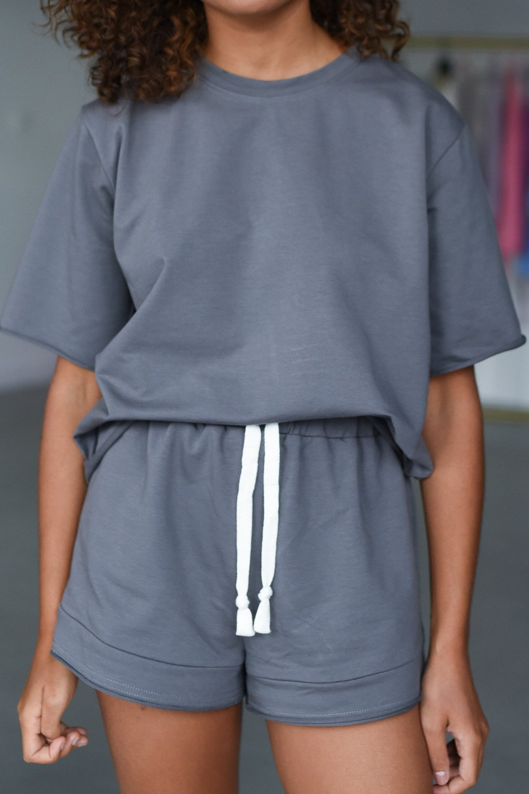 CHEAP Bahari Dark Grey Shorts 28617024035 – Women's Trousers