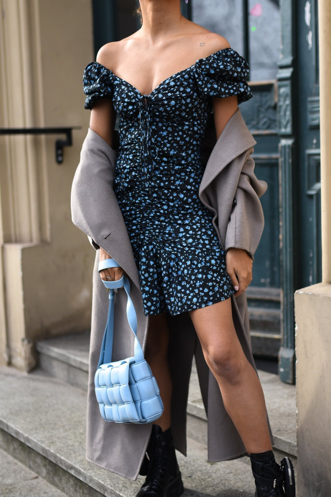 CHEAP Ellie Blue Flowers Dress 28617024157 – Women's Dresses & Skirts