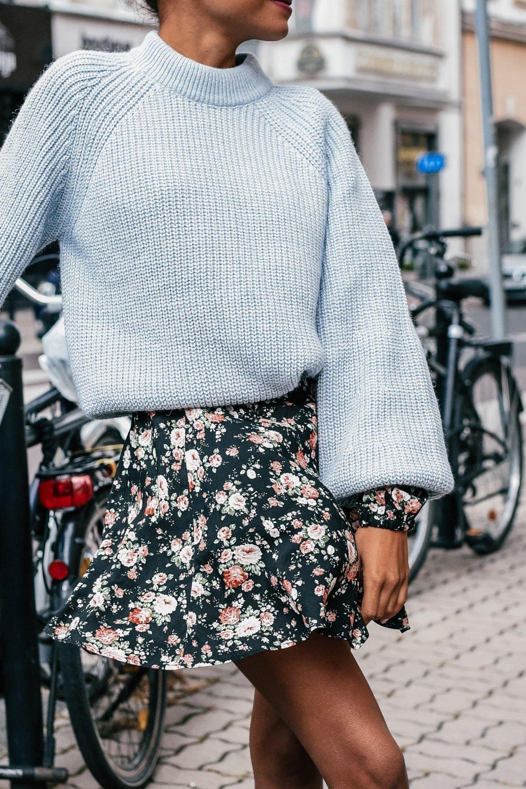 CHEAP Sasha Gray Blue Sweater 28617023885 – Women's Tops